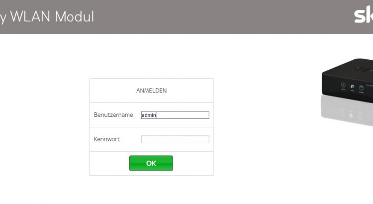 Sky Wlan Modul Webinterface Aufrufen Thomasheinznet